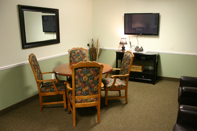 Stow-Glen Retirement Village Nursing Family Dining Room