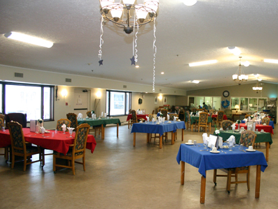 Stow-Glen Retirement Village Nursing Dining Room